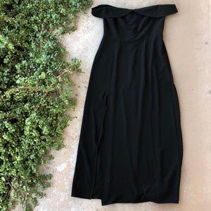 Show Me Your MuMu Black Off Shoulder Maxi Dress